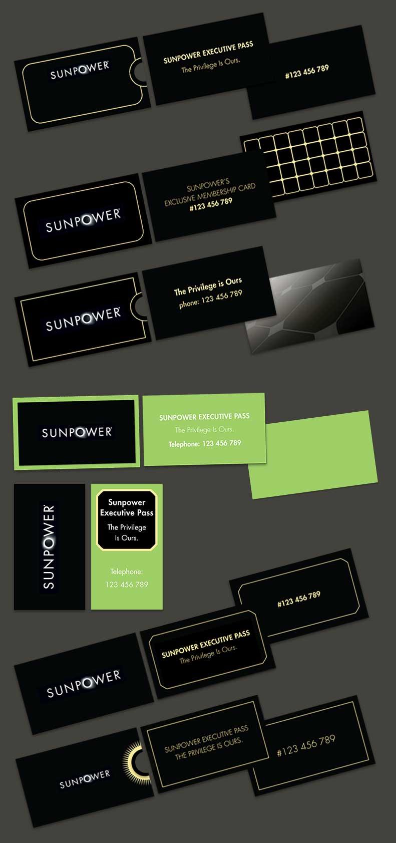 SunPower – Business Cards